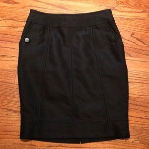 Black lined skirt